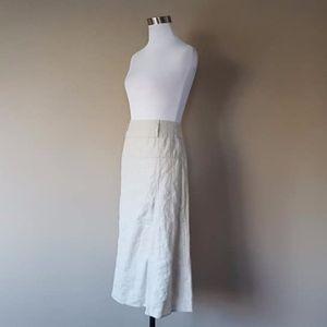Skirt Linen For Cynthia Large Petite  Zipper
